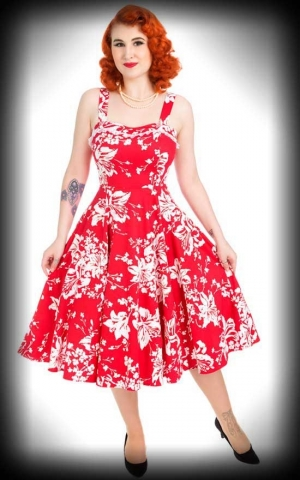 Hearts and Roses Kleid - Lily Floral Swing, ärmellos