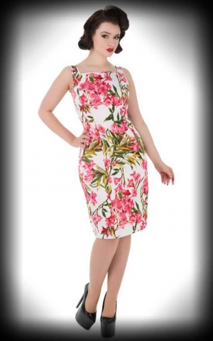 Hearts and Roses Wiggle Dress -  Pink Maureen
