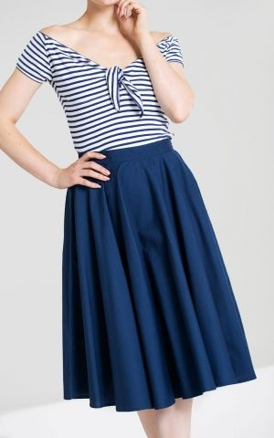 Hellbunny Swing Skirt Paula, navy
