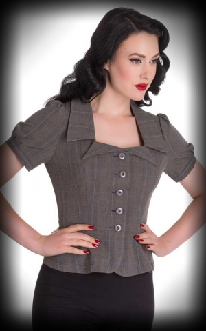 Hellbunny Blouse Lady Hay