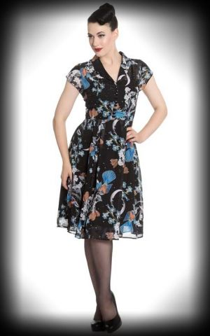 Hell Bunny - Robe en Chiffon Starry Night