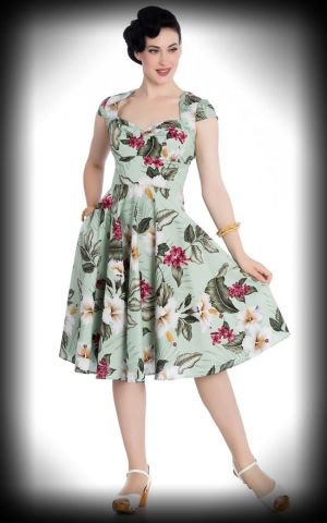Hell Bunny - Hawaii Swing Dress Kalei