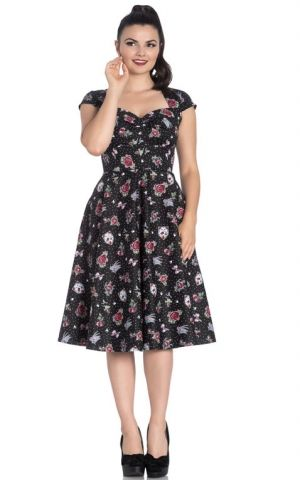 Hell Bunny - Rockabella Polkadot Robe Swing Stevie