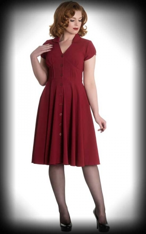 Hellbunny - Swing Dress Keely, bordeaux