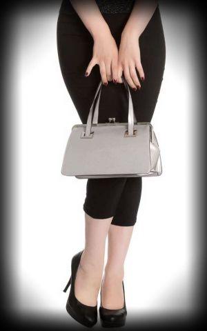 Hell Bunny - Handbag Tippi, silver