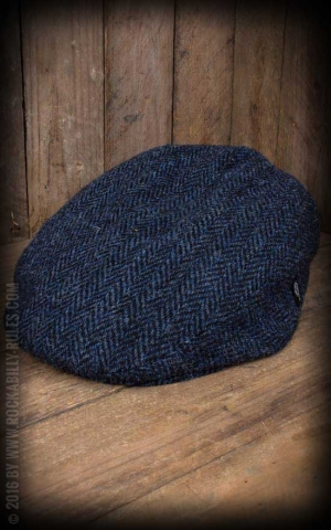 Herren Cap - Edward Harris Tweed, blau