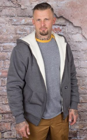 Dickies - Hoodie Sherpa Fleece, dark heather