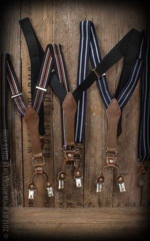 Bretelles avec clips et insertion cuir