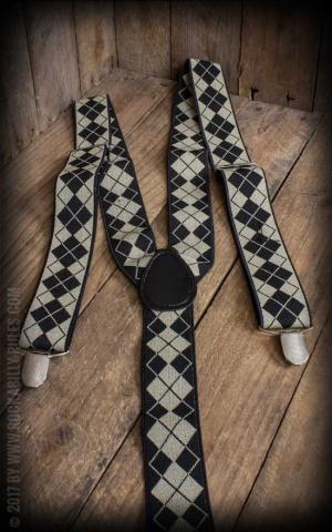 Suspenders with Clips, diamonds