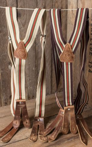 Rumble59 - Suspenders - colour combination beige or brown