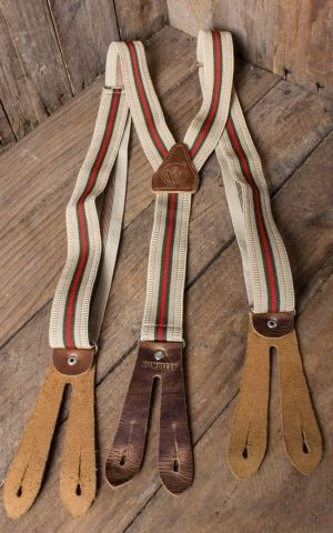 Rumble59 - Suspenders - colour combination beige