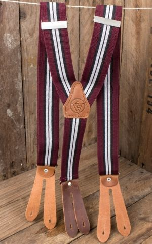 Rumble59 - Suspenders - Colour combination bordeaux