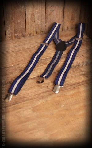 Suspenders with Clips, various stripe designs