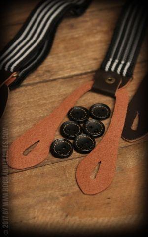 Bretelles à Rayures, noir et blanc