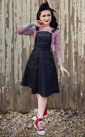 Rumble59 Ladies Denim - Latzkleid Rocking Rosie