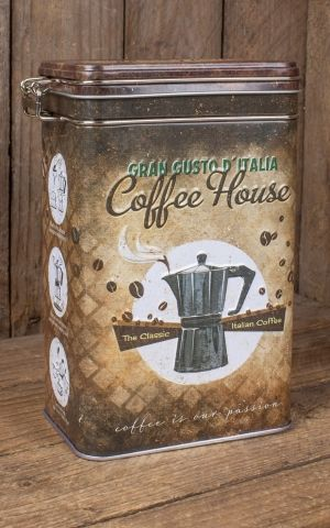 Coffee storage tin - Coffee House