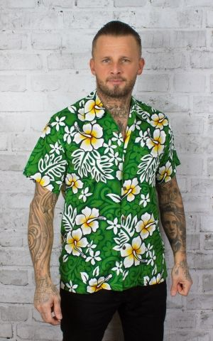 Karmakula Hawaiian Shirt - Belize, green