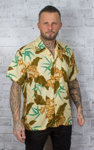 Karmakula Hawaiian Shirt - McQueen Cream