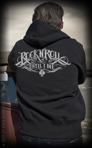 Rumble59 - Hoodie-Jacket - RnR Until I Die - noir