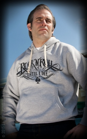 Rumble59 - Hoodie-Sweater - RnR Until I Die - grau