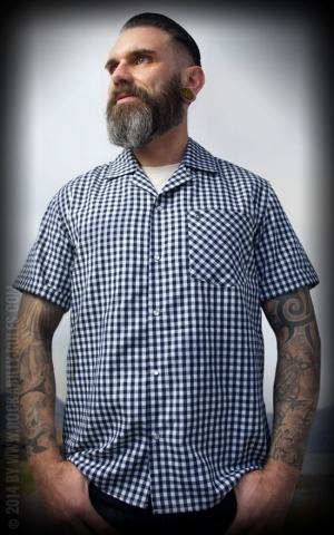 Rumble59 - Classic Shirt - Twill Check Short-Sleeve Shirt