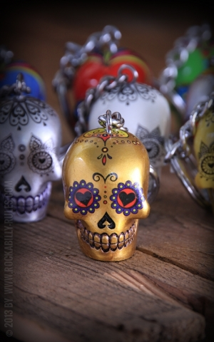 Key Chain Sugar Skulls