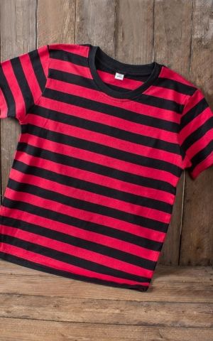 Rumble59 - Sling Shot Rebels - Striped Kids Shirt - rouge/noir
