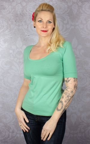 King Louie - Short Ballerina Top Island Green | Grün