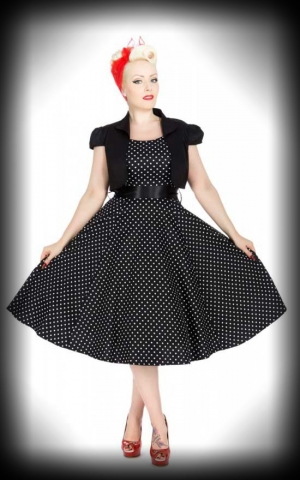 Dress with Bolero, Polkadot black white