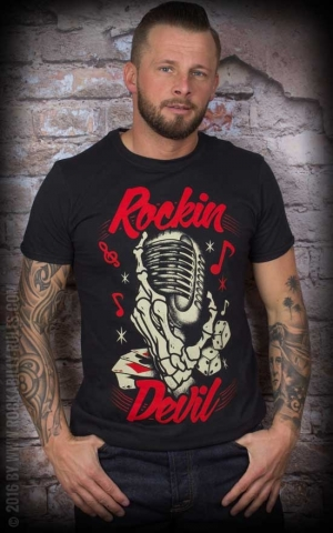 La Marca del Diablo T-Shirt - Rockin Devil Mikrofon