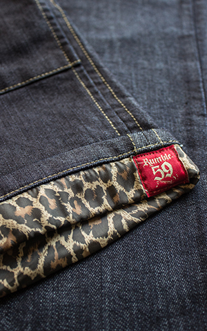 Rumble59 Ladies Denim - Hotpants - Leopatch
