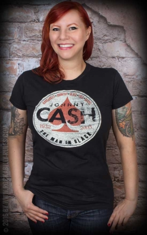 Ladies Shirt - Johnny Cash - Spade, The man in black