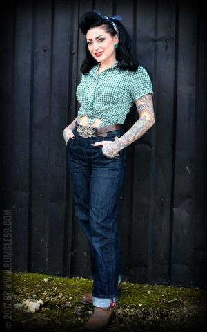 Rumble59 Ladies - Checked Blouse - Peggy Sue
