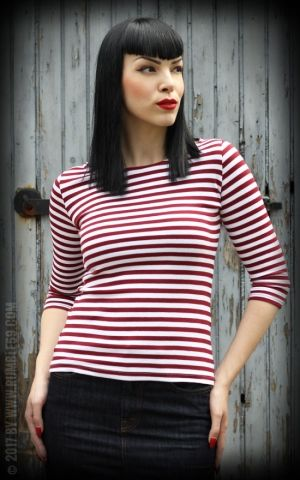 Rumble59 Ladies - Striped Shirt - Lets be Audrey!