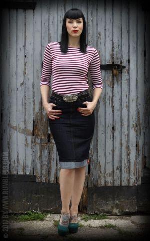 Rumble59 Ladies - Streifen-Shirt - Lets be Audrey!