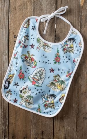 Six Bunnies Baby Bib Aloha Sailor Hawaii