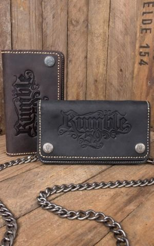 Rumble59 - Leather Wallet - marron ou noir