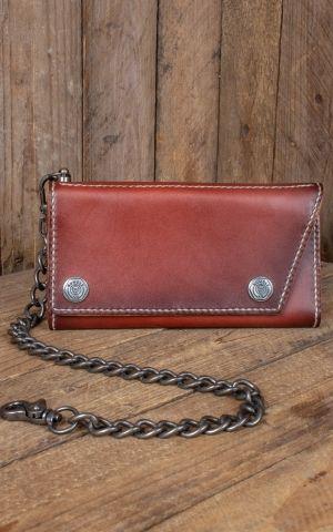 Rumble59 - Leder Wallet Kamm - sunburst handmade