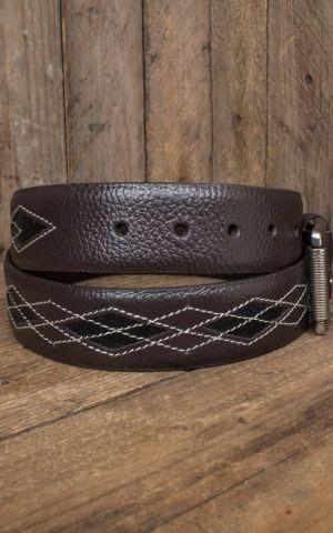 Rumble59 Ledergürtel Diamond - braun/schwarz