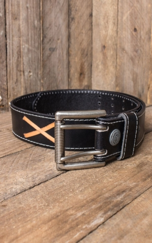 Leather belt - Marlon Brando, black