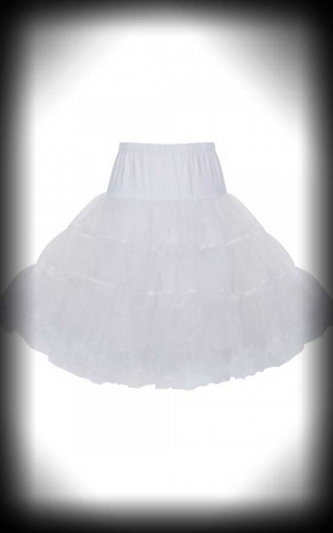 Lindy Bop Kids Petticoat, White