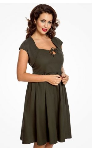 Lindy Bop Set Swing Dress and Bolero Libby