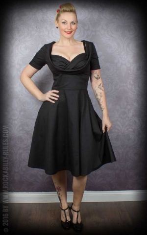 Lindy Bop - Robe Swing Sloane, noir