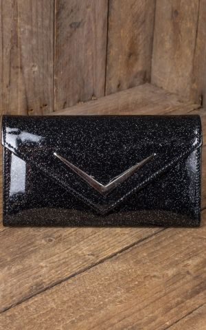 Liquor Brand - Wallet Chevron Vintage Time, black