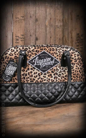 Liquor Brand - Rockabella Handbag -  Leo Plush Tan