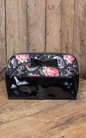 Liquor Brand - Cosmetic bag Rose Tattoo, black