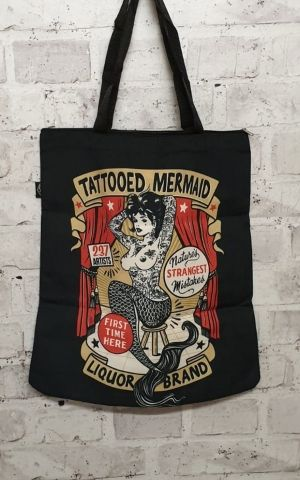Liquorbrand Baumwolltasche Tattoed Mermaid