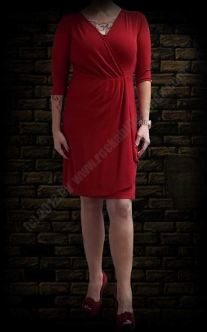 Bella dress Heavy Crepe, rot