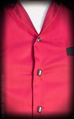 Rumble59 - Lounge Shirt - TCB-Diamonds - rot