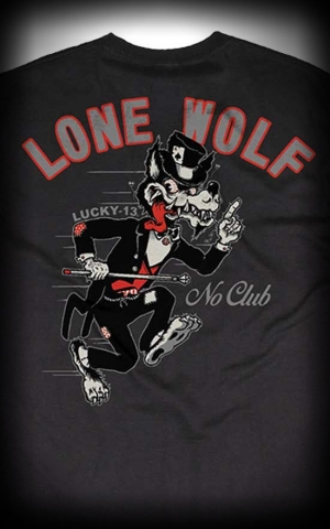 Lucky13 T-Shirt No Club, Lone Wolf